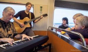 Stridin on a Train2